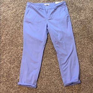 Loft Girlfriend Chino Pants Periwinkle